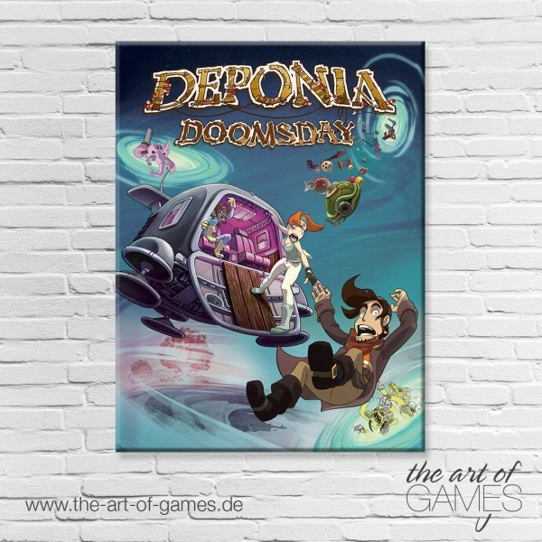 Deponia Doomsday Cover Art Tour Poster
